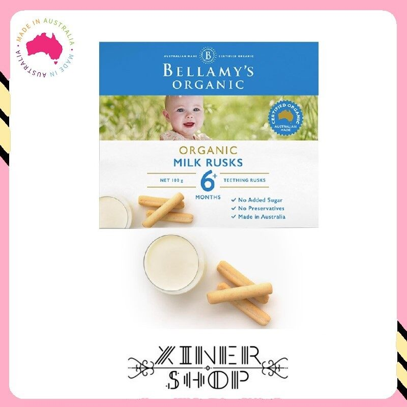 [Pre Order] Bellamy 's Organic Milk Rusks ( 100g )(Made in Australia)