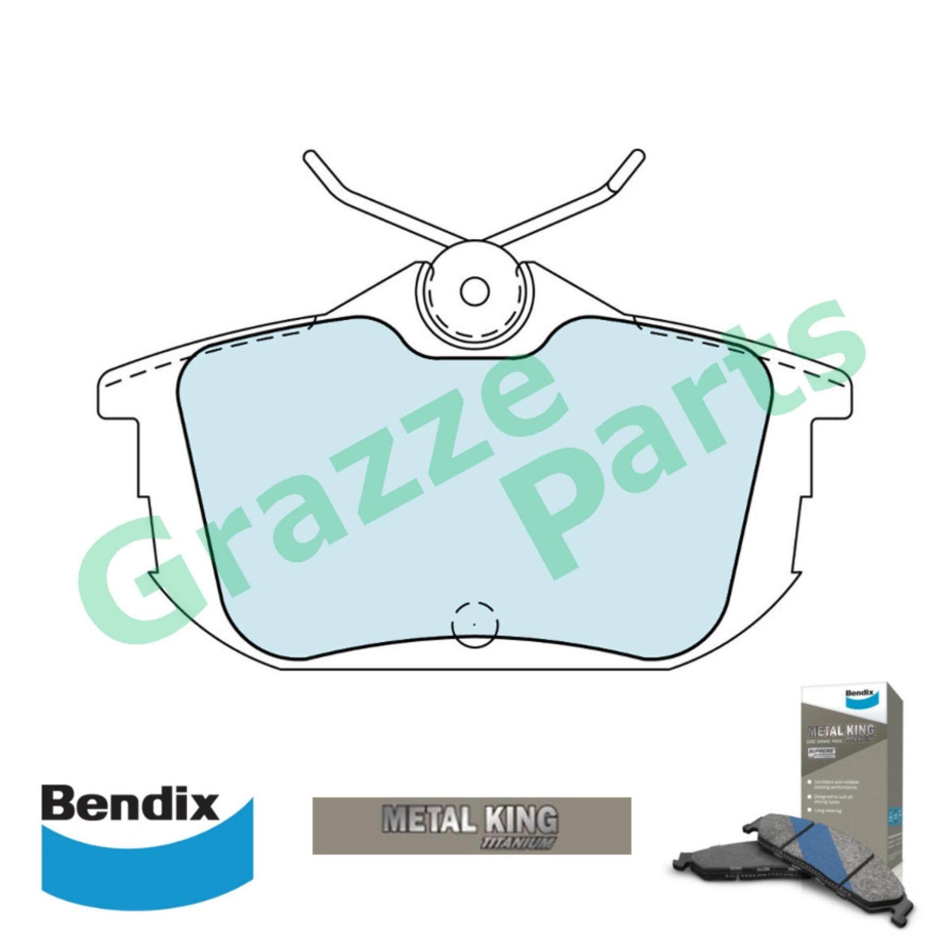 Bendix Metal King Titanium Disc Brake Pad Rear for DB1382 - Proton Waja 1.6 1.8 Volvo S40 2.0