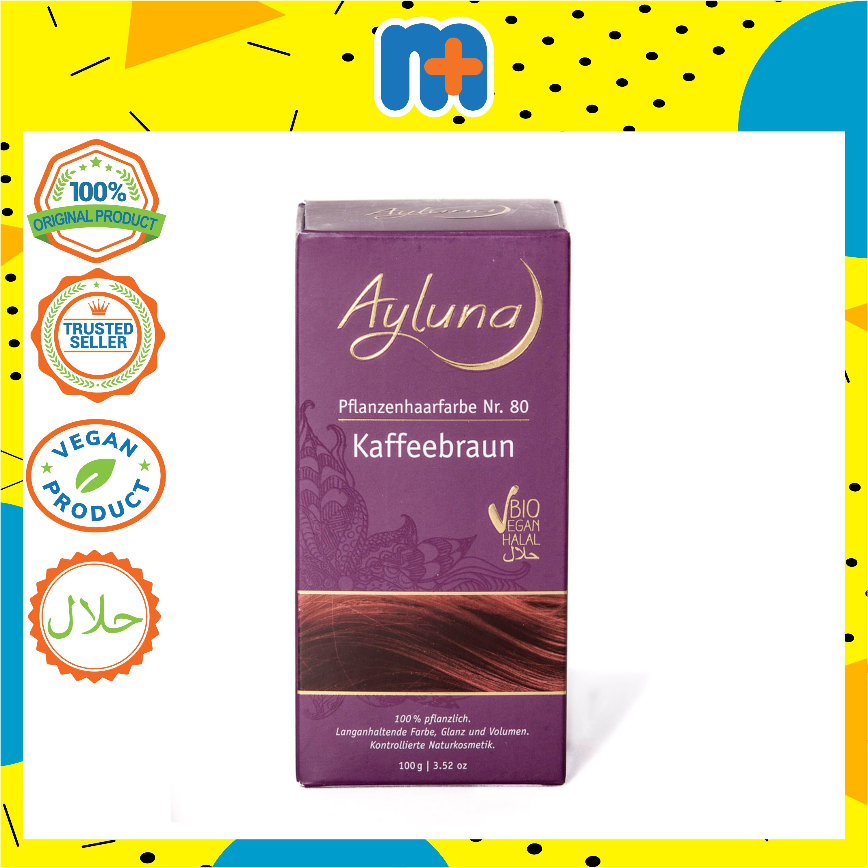 [MPLUS] AYLUNA Organic Plant Based Hair-Dye Coffee Brown 100g