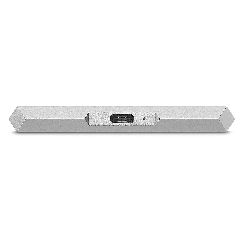 LaCie Mobile Drive 1TB/2TB/4TB/5TB External Hard Drive HDD – Moon Silver USB-C USB 3.0 Thunderbolt 3, for Mac and PC Computer Desktop Workstation Laptop