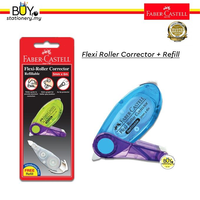 Faber Castell Flexi Roller Correction Tape + Refill ( Card)