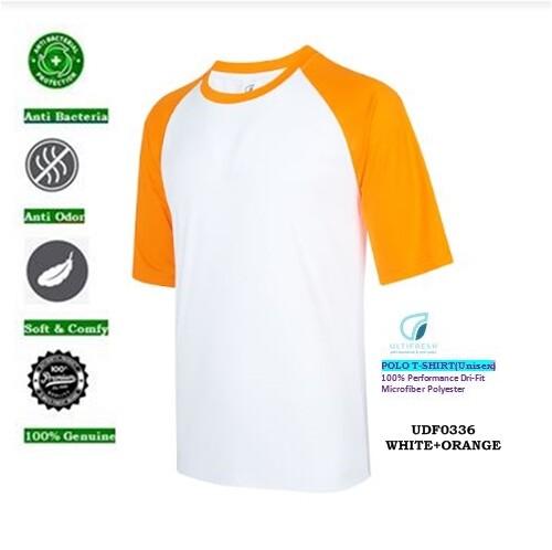 Unisex Polo T-Shirt UDF03 ULTIFRESH Anti Bacterial & Anti Odor RAGLAN Dri-Fit Polo tshirt tees
