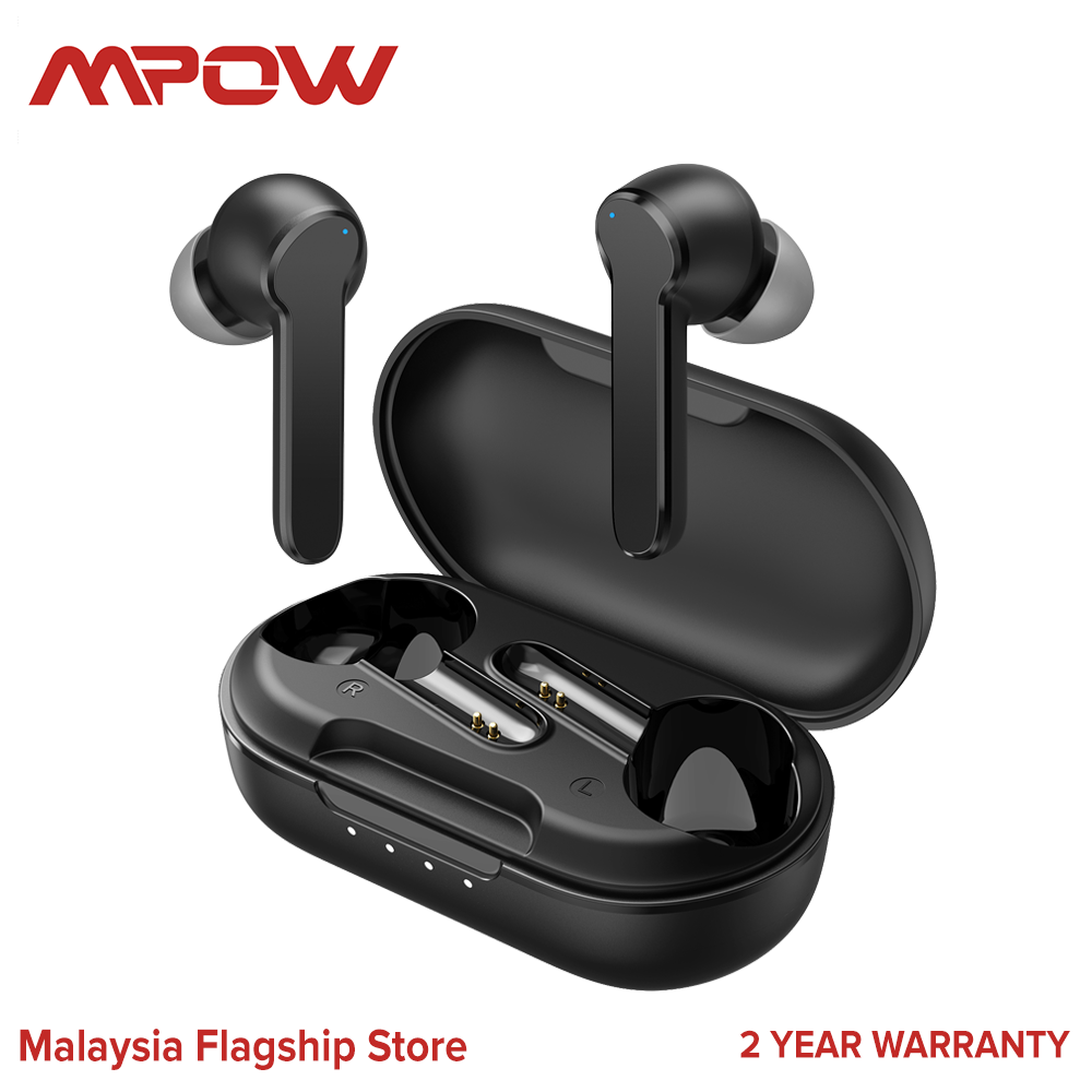 [ NEW ARRIVAL ] Mpow MBits S True Bluetooth Earbuds CVC8.0 Noise Cancelling Earphones, Bluetooth 5.0, Deep Bass IPX8 Waterproof 35H Playtime Touch Control