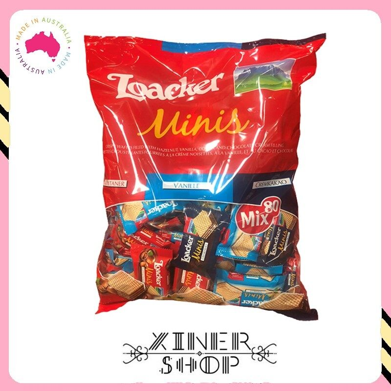 [Pre Order] Loacker Minis Crispy Wafers Mix Flavours ( 800g )(Import from Australia)