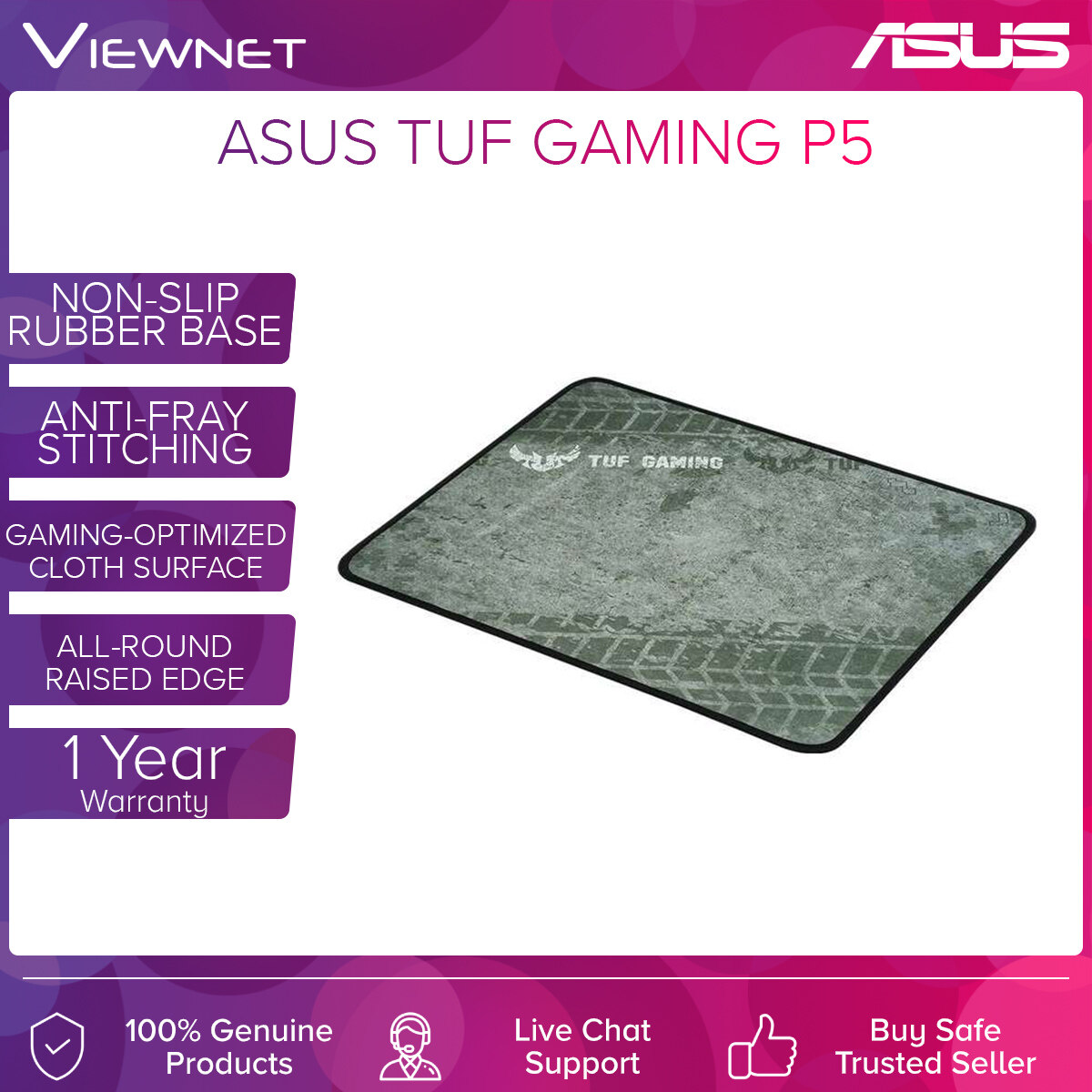 MOUSE PAD ASUS TUF GAMING P3 (350MM*280MM*2MM)