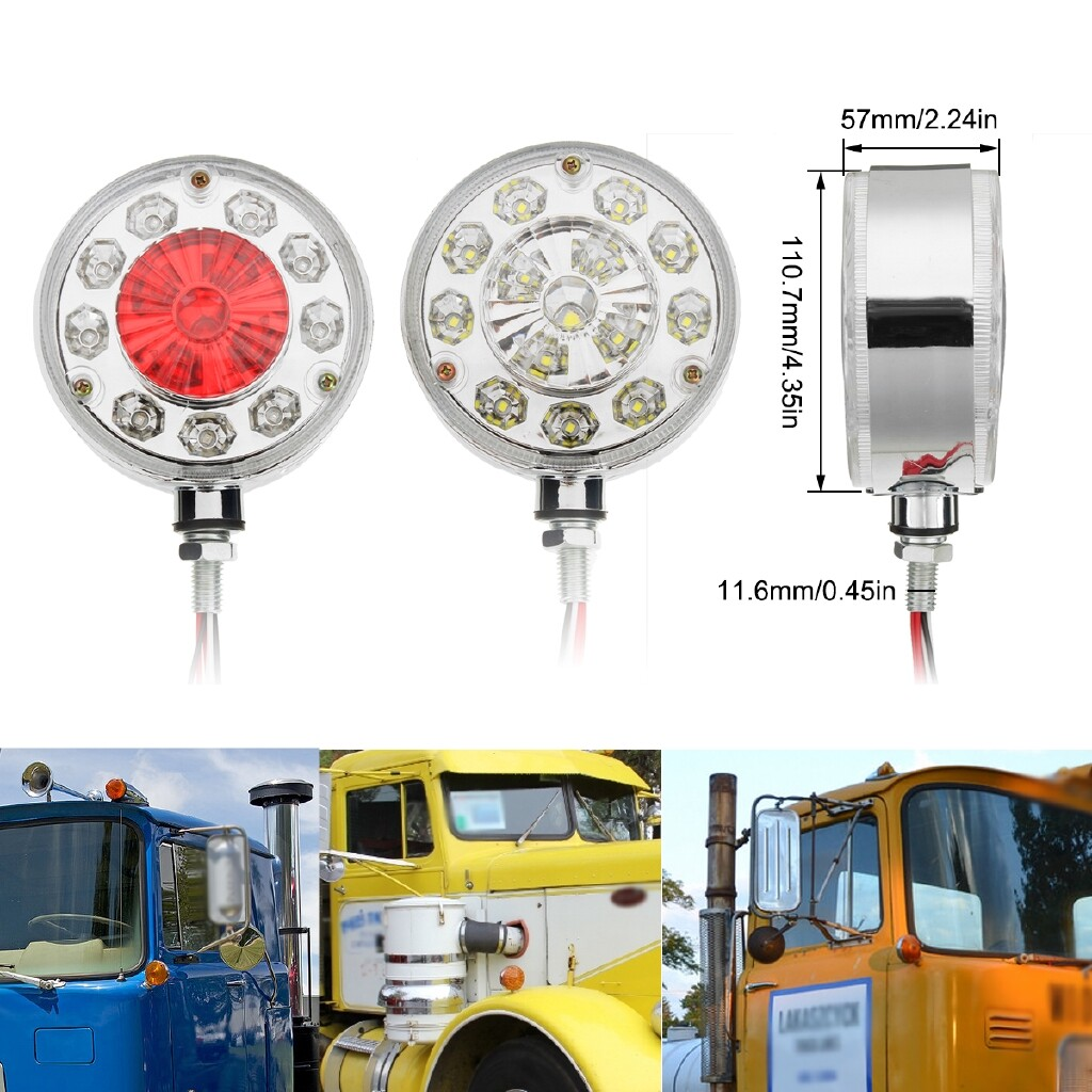 Car Lights - Red Double Face Side Marker Light For Truck Lorry Trailer Tractors Buses Boat - Replacement Parts