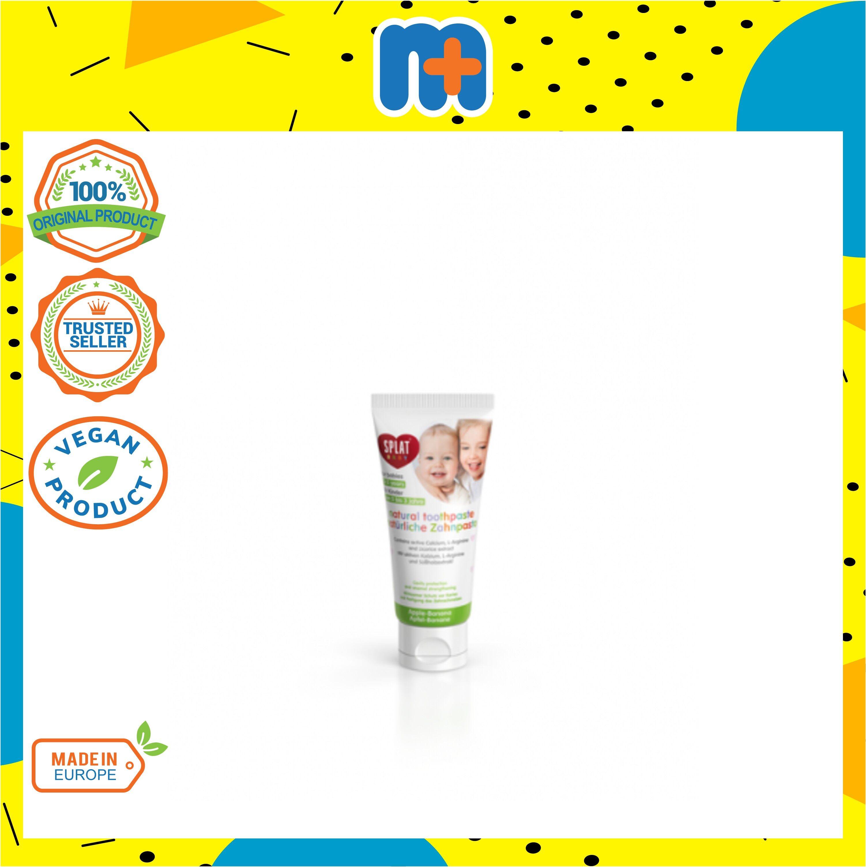 [MPLUS] SPLAT Baby Toothpaste [Apple Banana] With Fingertip Toothbrush 40ml