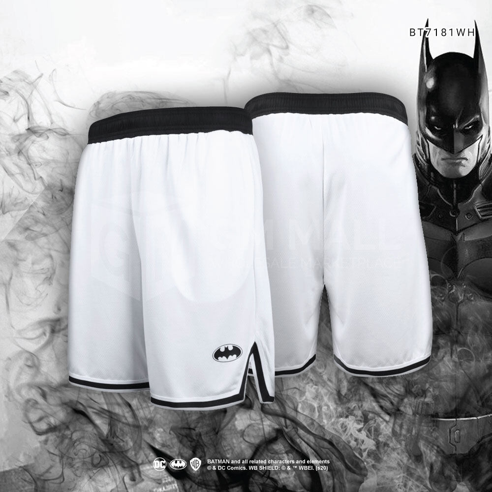DC BATMAN Exclusive WHITE Men Sport Gym Jogging Training Running Short Pants – Casual Sport Running Pants [BT7181WH]