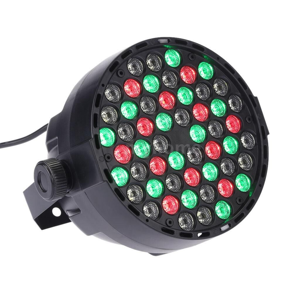 Lighting - DMX-512 RGBW LED Stage PAR Light Strobe Professional 8 Channel Party Disco Show 54W AC 100 - Home & Living