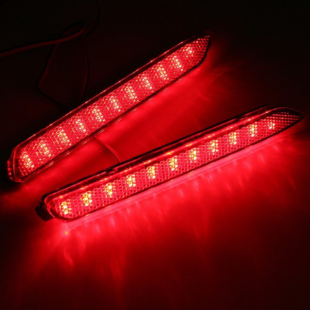 Car Lights - One Pair Red LED Rear Bumper light For Toyota Camry Lexus GX470 - Replacement Parts