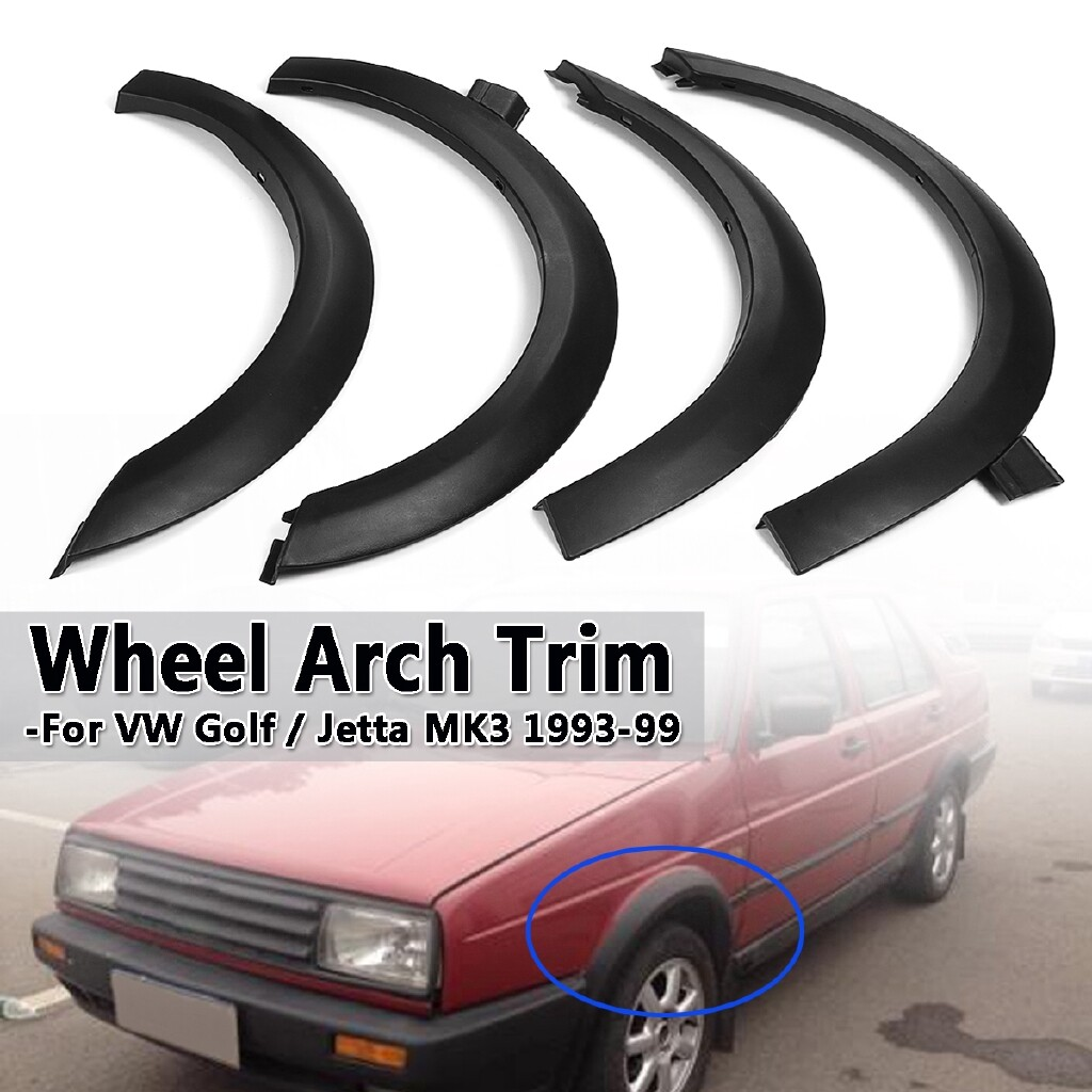 Car Lights - 4 PIECE(s) Fender Flares Wheel Arch Molding Trim Spoiler For VW Golf Jetta Cabrio MK3 - Replacement Parts