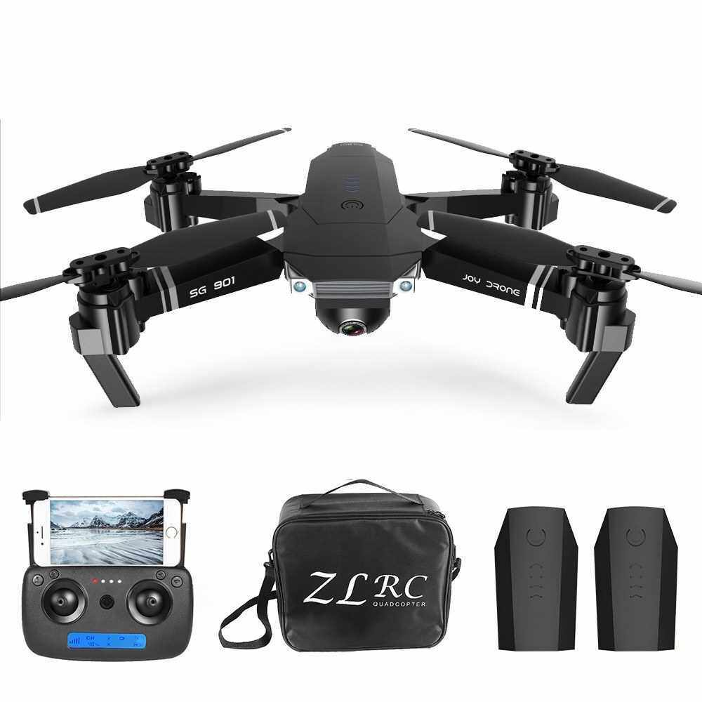 SG901 4K Drone with Camera Optical Flow Positioning MV Interface Follow Me Gesture Photos Video RC Quadcopter 2 Batteries Portable Bag (Black)