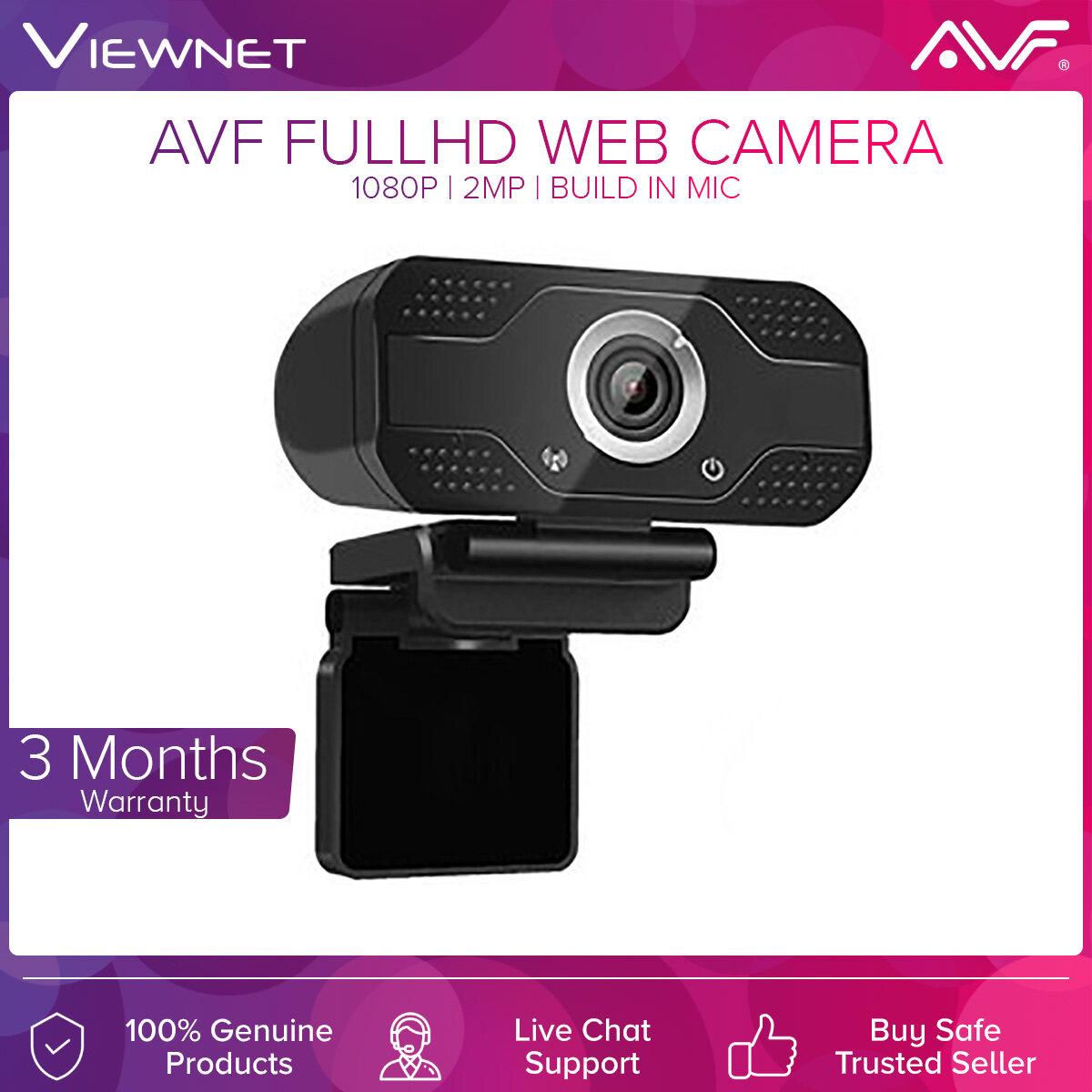 Avf Web Camera Webcam 2MP 1080P Full HD Built -In microphone