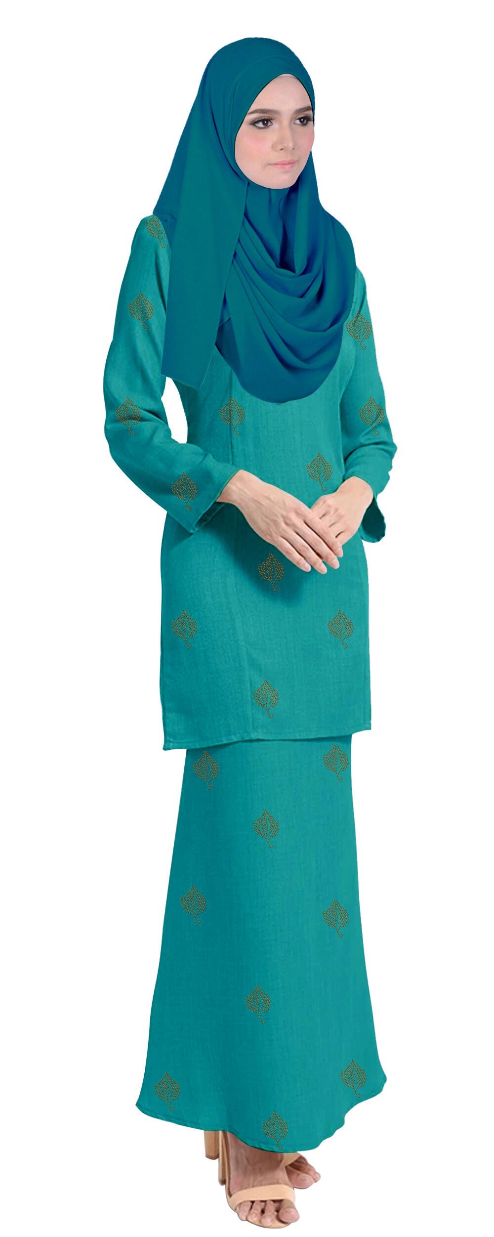 Baju Kurung Tahara For Muslimah Fashoin -Tahara-Ocean Green