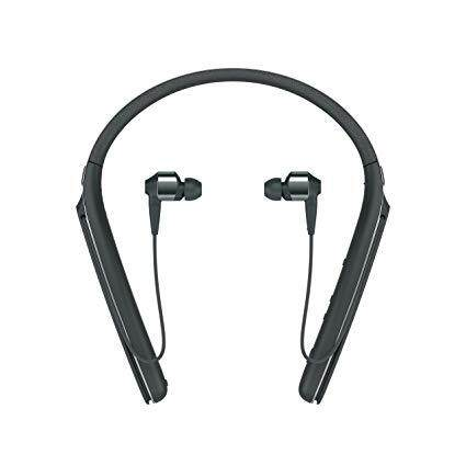 Sony WI-1000X Wireless Bluetooth Noise Cancelling In-ear Headphones (Black/Champagne Gold) NFC, Hands-free Calling with Vibration Notification, Voice Assistant Compatible, Ambient Sound Control, Virtual Surround Sound, Equalizer, High-Resolution Audio