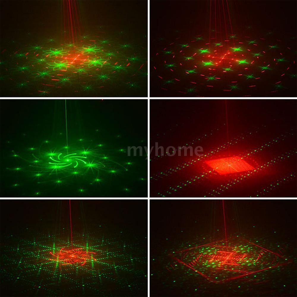 Lighting - DJ Disco Stage Lasering Light 3W RGB LEDs 5 Holes & Full Color 120 Patterns Sound Activated Strobe - Home & Living
