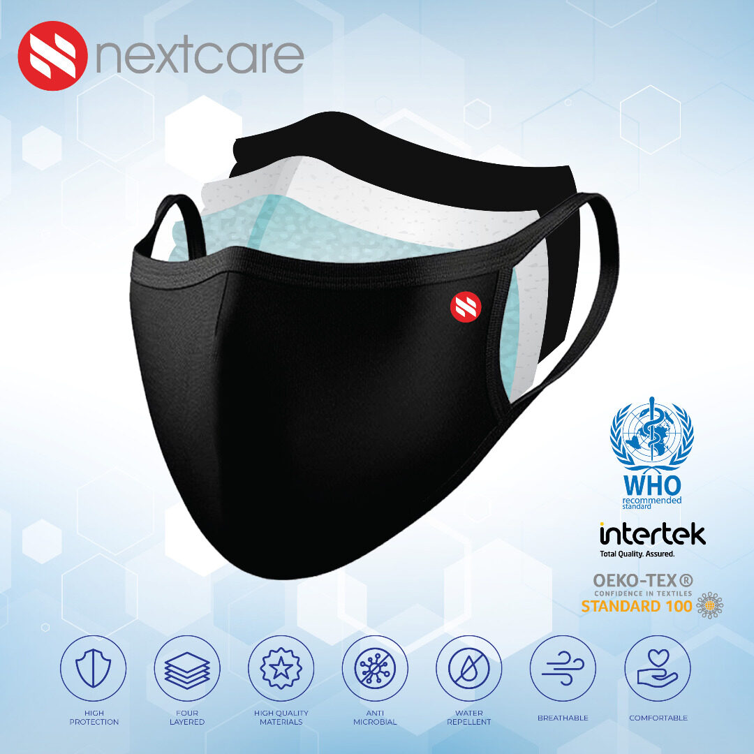 A&K Nextcare, 4ply Reusable Face Mask, WHO Standard