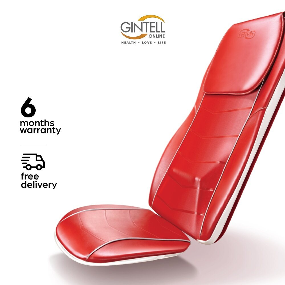 GINTELL G-Rexus 3D Massage Seat Red (Showroom Unit)