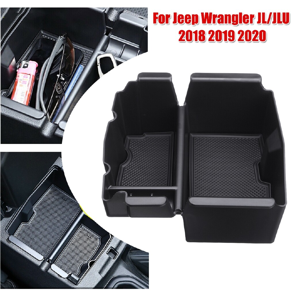 Automotive Tools & Equipment - Car Armrest Storage Box Case Center Interior For Jeep Wrangler JL/JLU -2020 - Car Replacement Parts