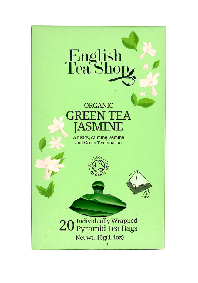 English Tea Shop Organic Jasmine Green Tea (40g) (20 pyramid tea bags) Exp: Feb 2021