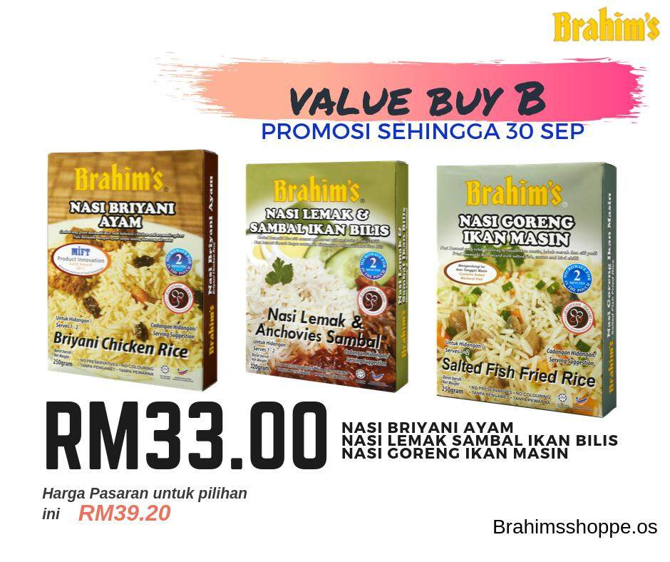 Brahim's Value Buy B (Meal Ready To Eat Rice)