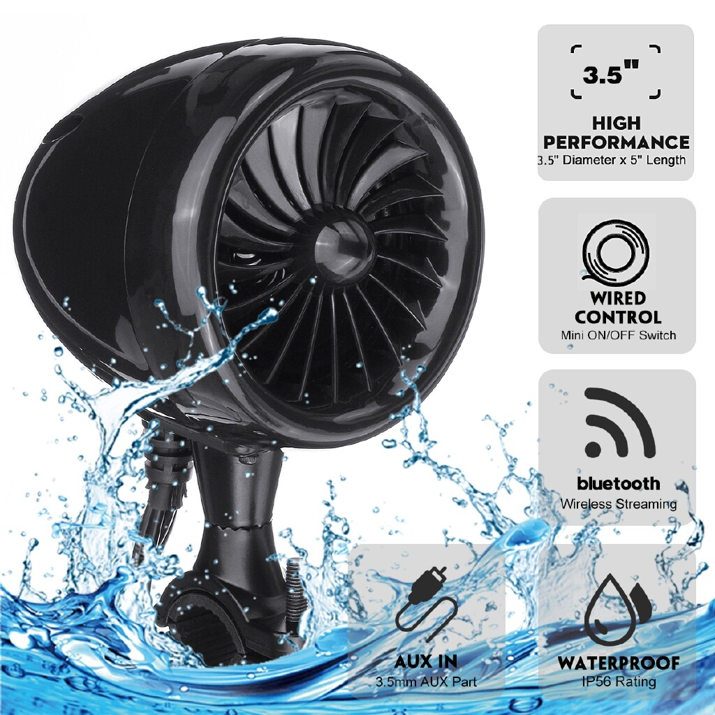 Car Radios - 300W Waterproof BLUETOOTH Motorcycle Stereo Speakers MP3 Amplifier Motorcycle Audio System - Electronics