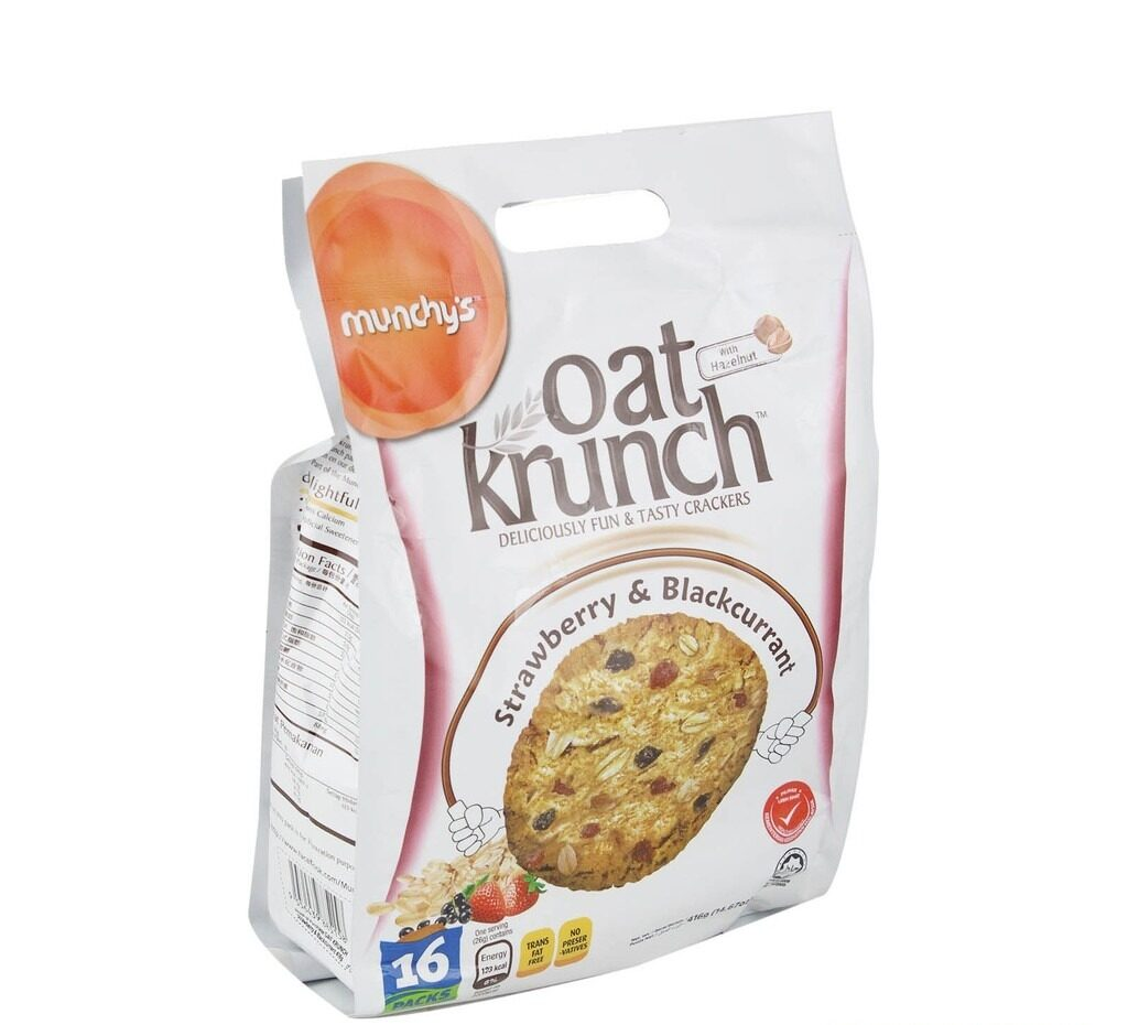 Munchy's Oat Krunch Strawberry+Blackcurrant 416g