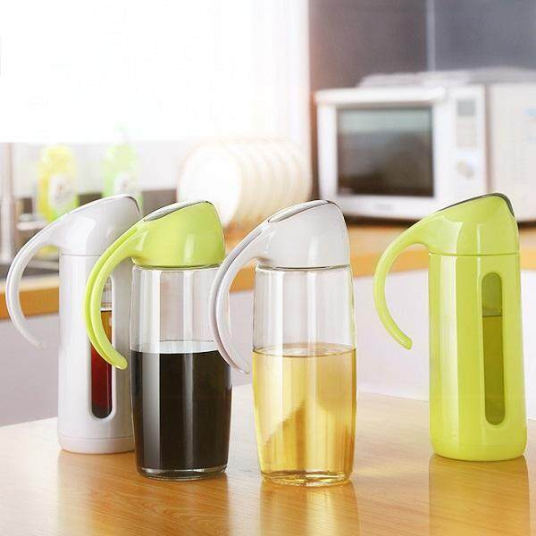 (Ready Stock in Selangor) 320ml/500ml Kitchen Glass Oil Dispenser Leakproof Oil Bottle