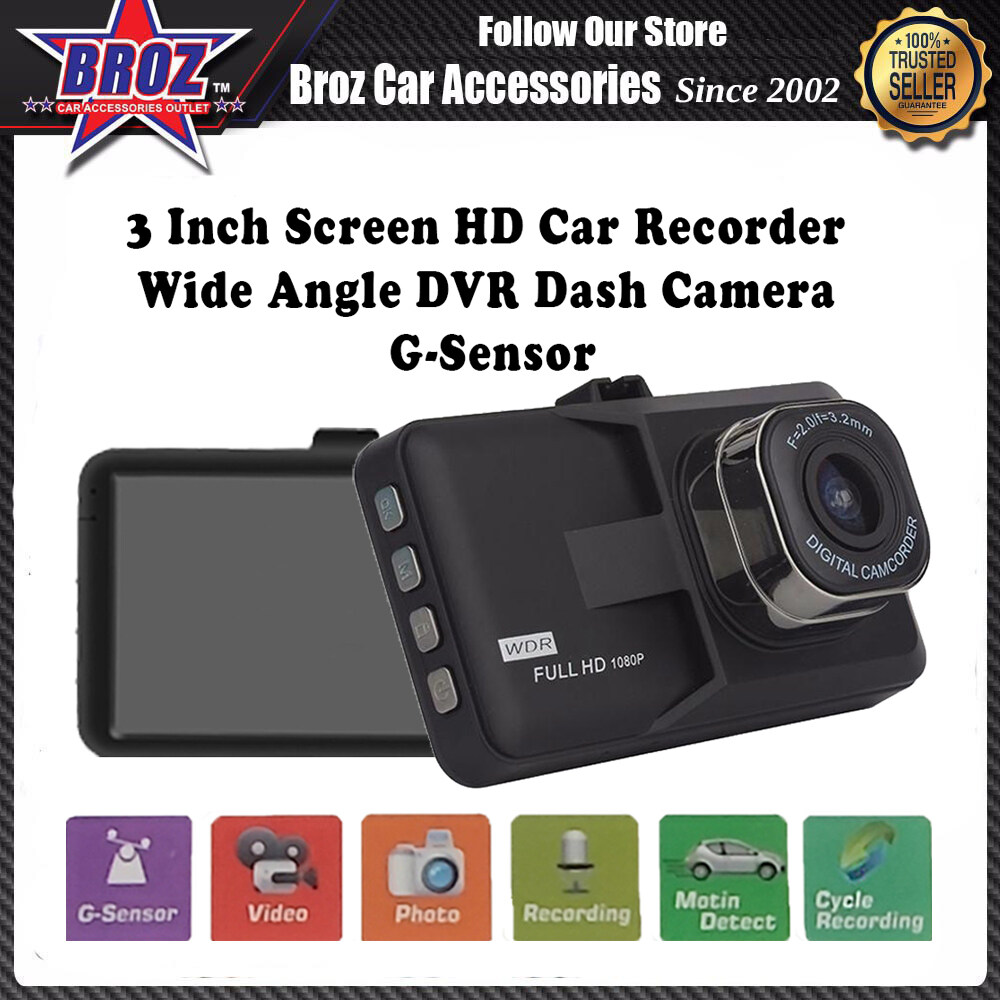 3 Inch Screen HD Car Recorder Wide Angle DVR Dash Camera G-Sensor (D306)