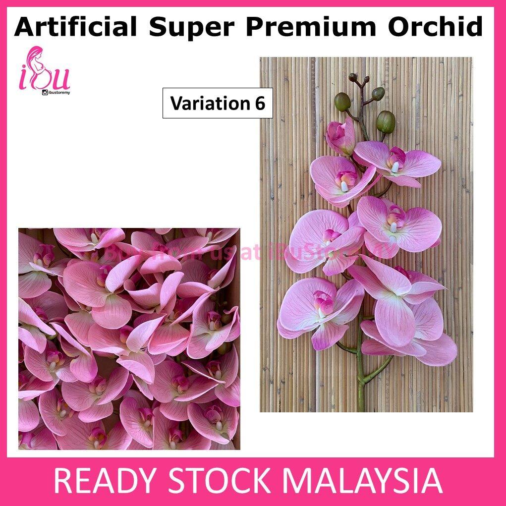 Orkid Latex  SUPER PREMIUM 3D Orchid Latex Super Premium 9 Kuntum Bunga Orkid