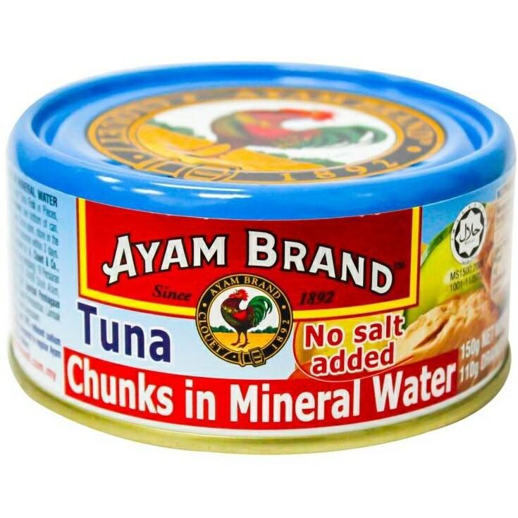 Ayam Brand Tuna Chunks in Mineral Water 150g