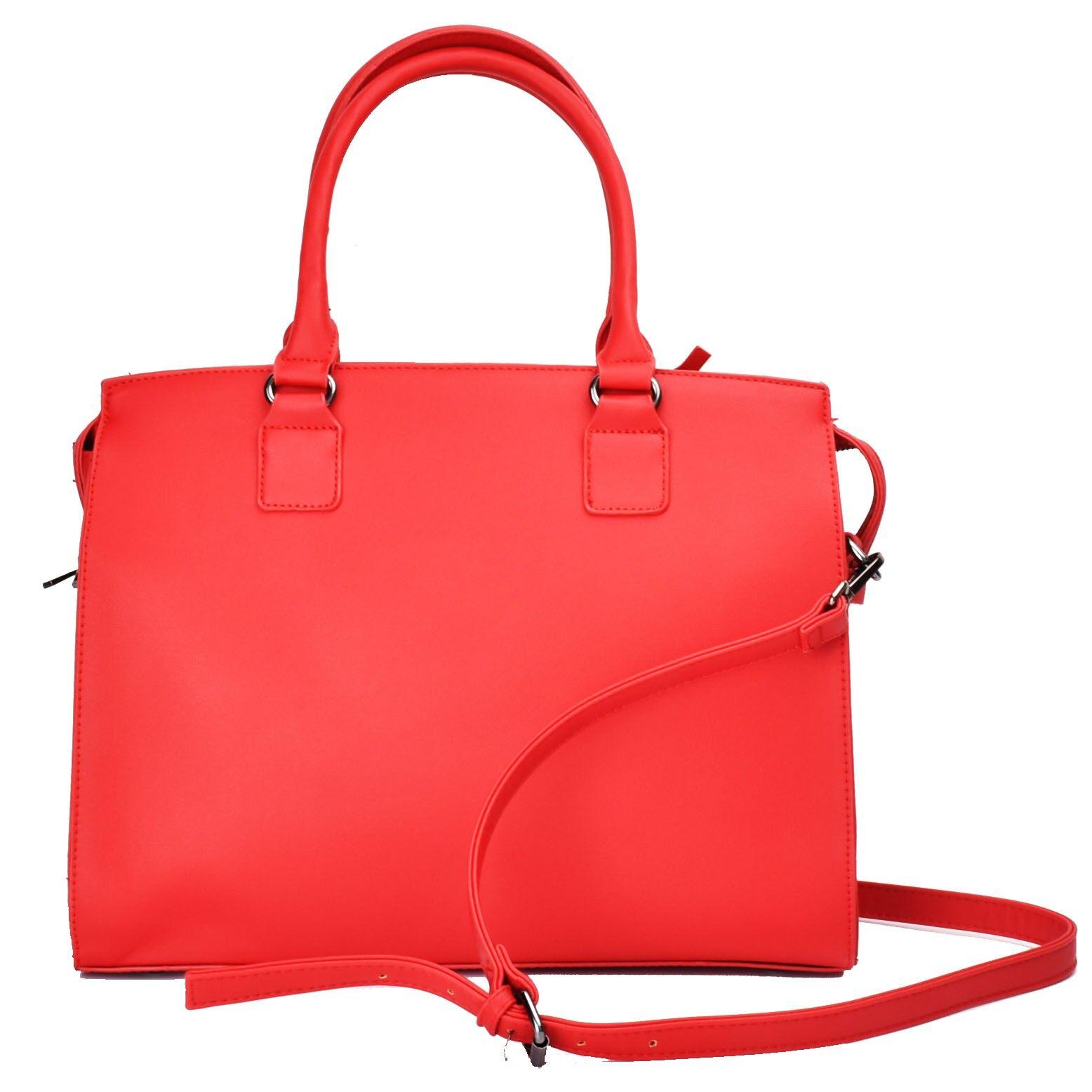 Lulugift Simple Style Office Lady Laptop Notebook 2 way Handbag