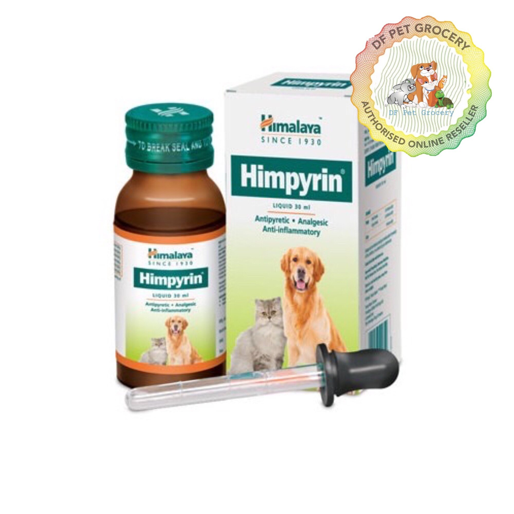 Himalaya Himpyrin Liquid 30ml for Cats and Dogs Fever & Painful  - Ubat Demam