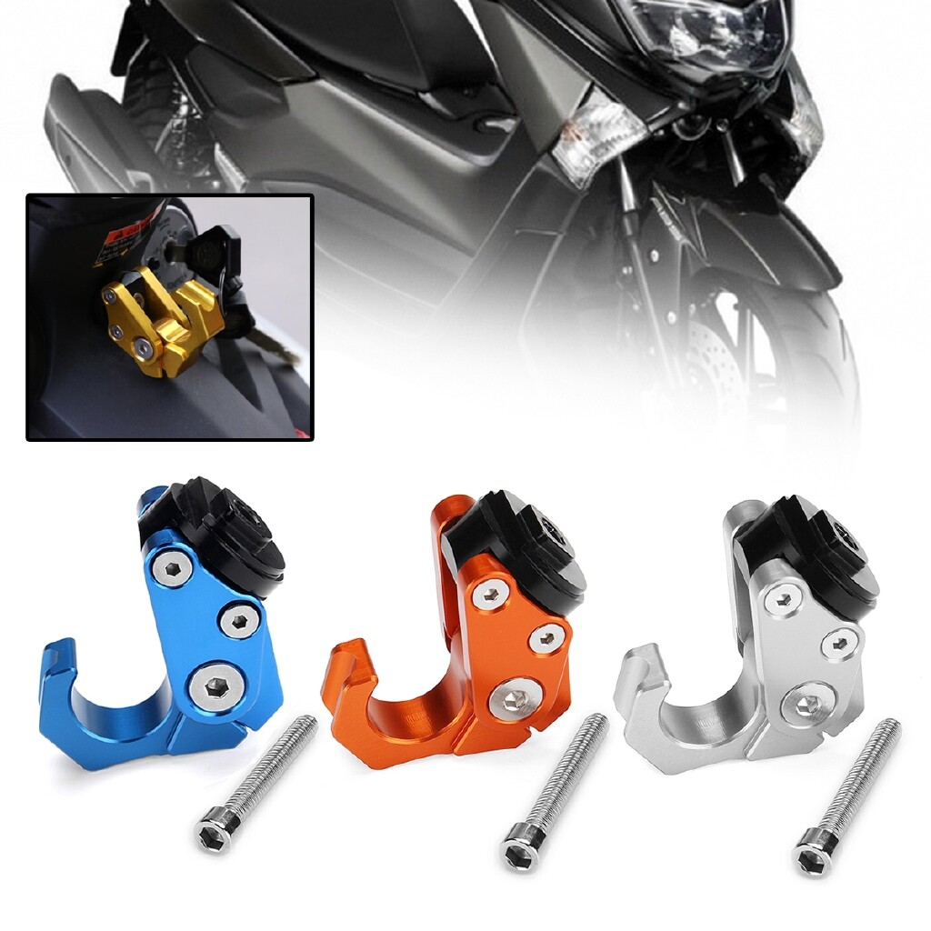 Moto Accessories - For YAMAHA Motorcycle Scooter Accessories Convenience Hook Hanger - ORANGE / BLUE / SILVER