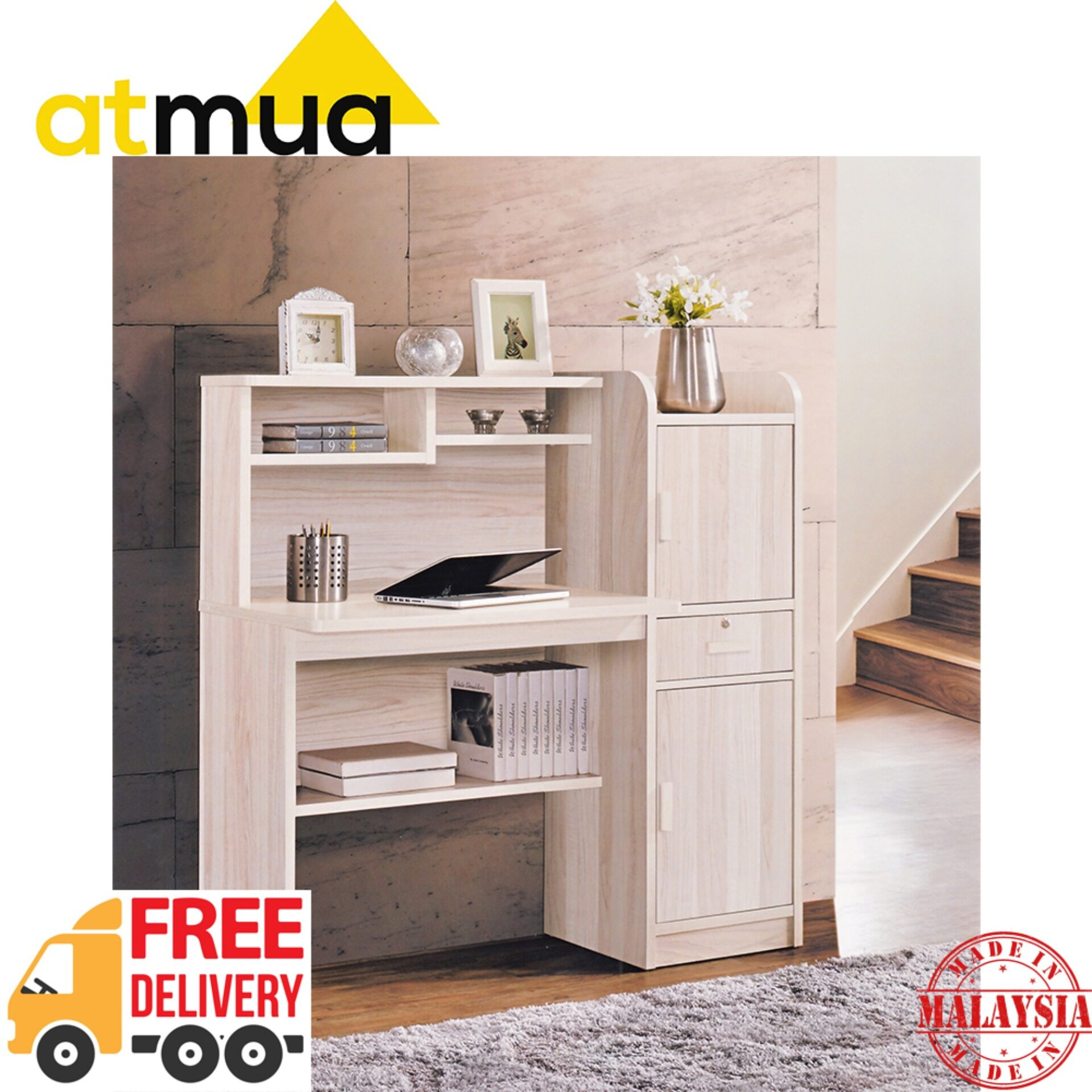 Atmua Taven Children Writing Table with Storage [Hollow MDF Board]