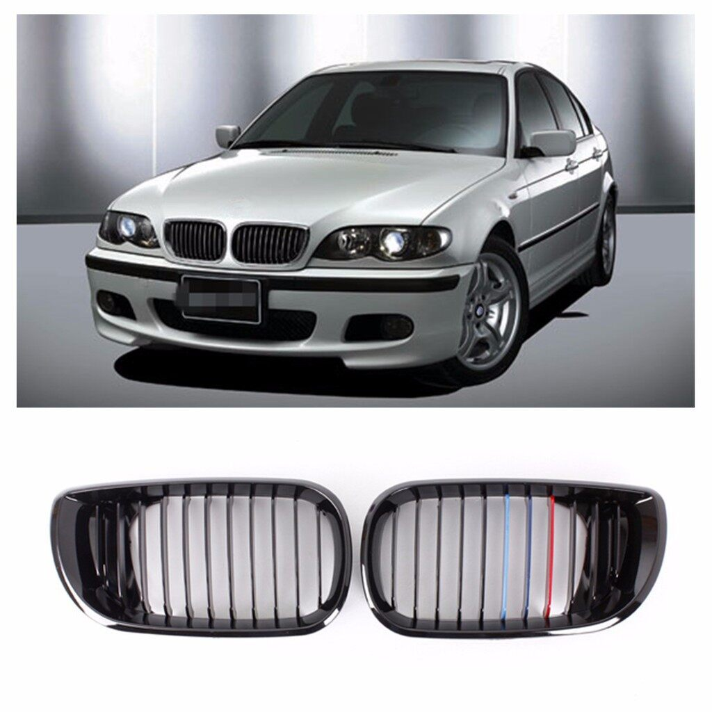 Car Accessories - Kidney Grille Grill For BMW E46 3 Series 4-Door Sedan - Automotive