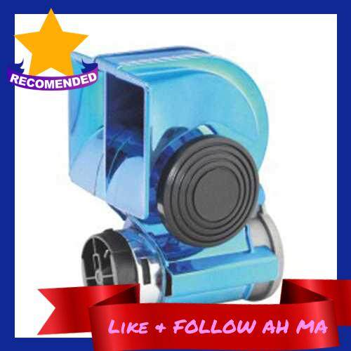 Best Selling 12V Whistle Loud Practical High Sensitivity Stainless Steel Vehicle-mounted Truck Passenger Car Horn (Light Blue)