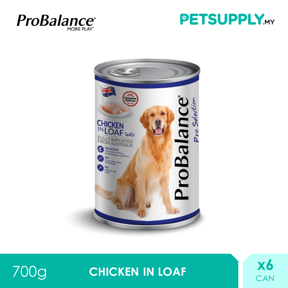 ProBalance 700G Chicken Pro Selection Adult Wet Dog Food X 6 Cans [PETSUPPLY.MY]