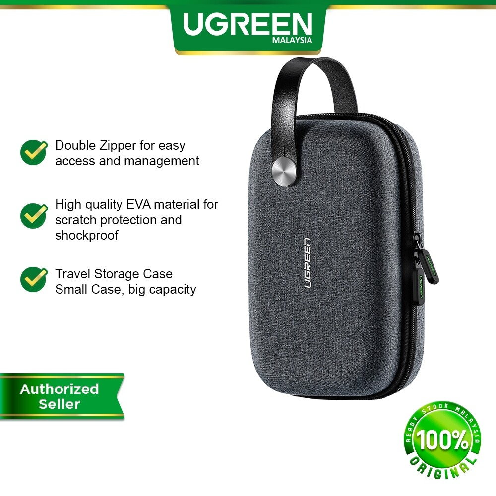 UGREEN Hard Disk Powerbank Storage Bag Travel Storage Case Waterproof Small Size Storage USB Cable Adapter Travel Electronics Accessories Organizer Bag