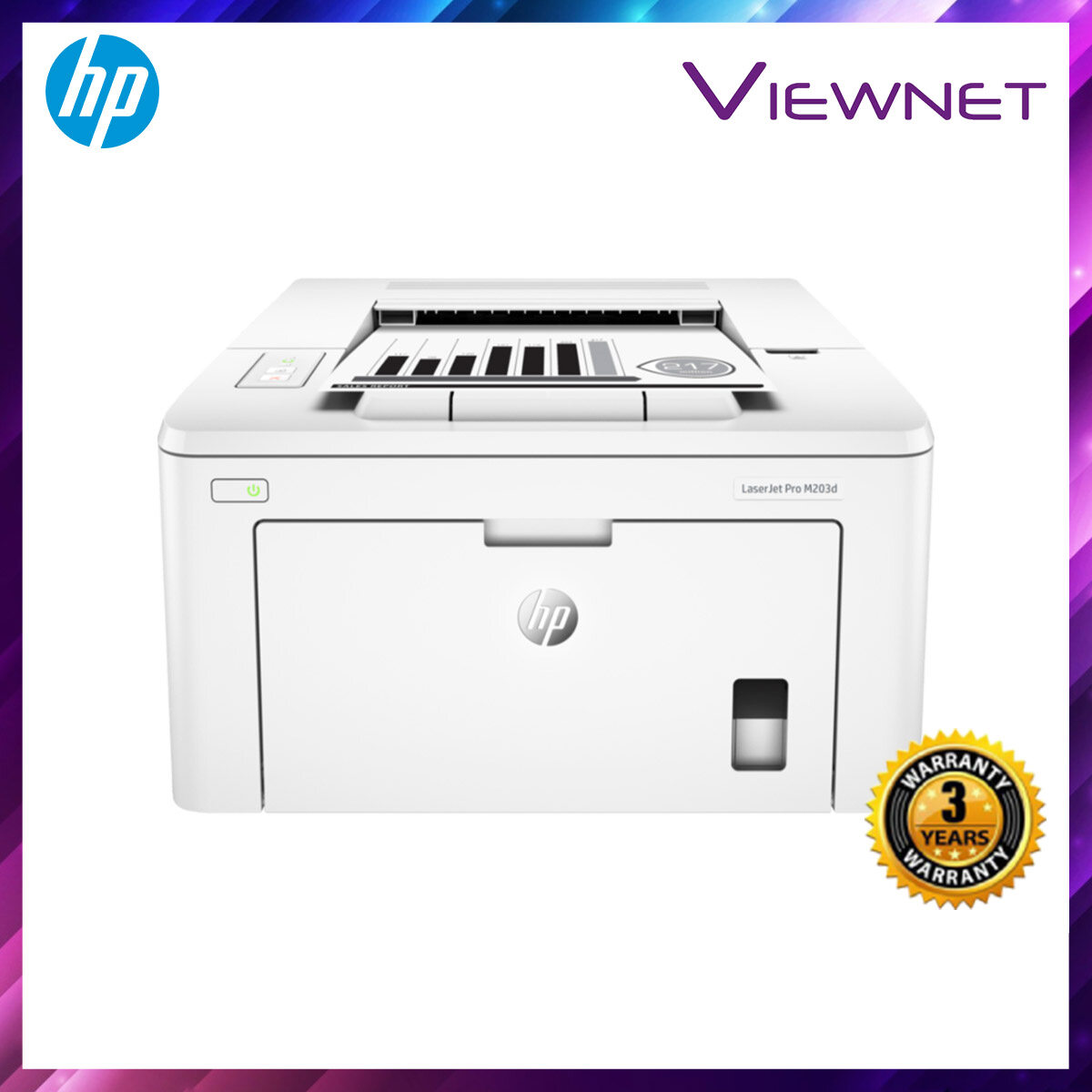 HP LaserJet Pro M203d Printer (Duplex Printing) 3 Years Onsite Warranty with 1-to-1 Unit exchange **NEED TO ONLINE REGISTER**