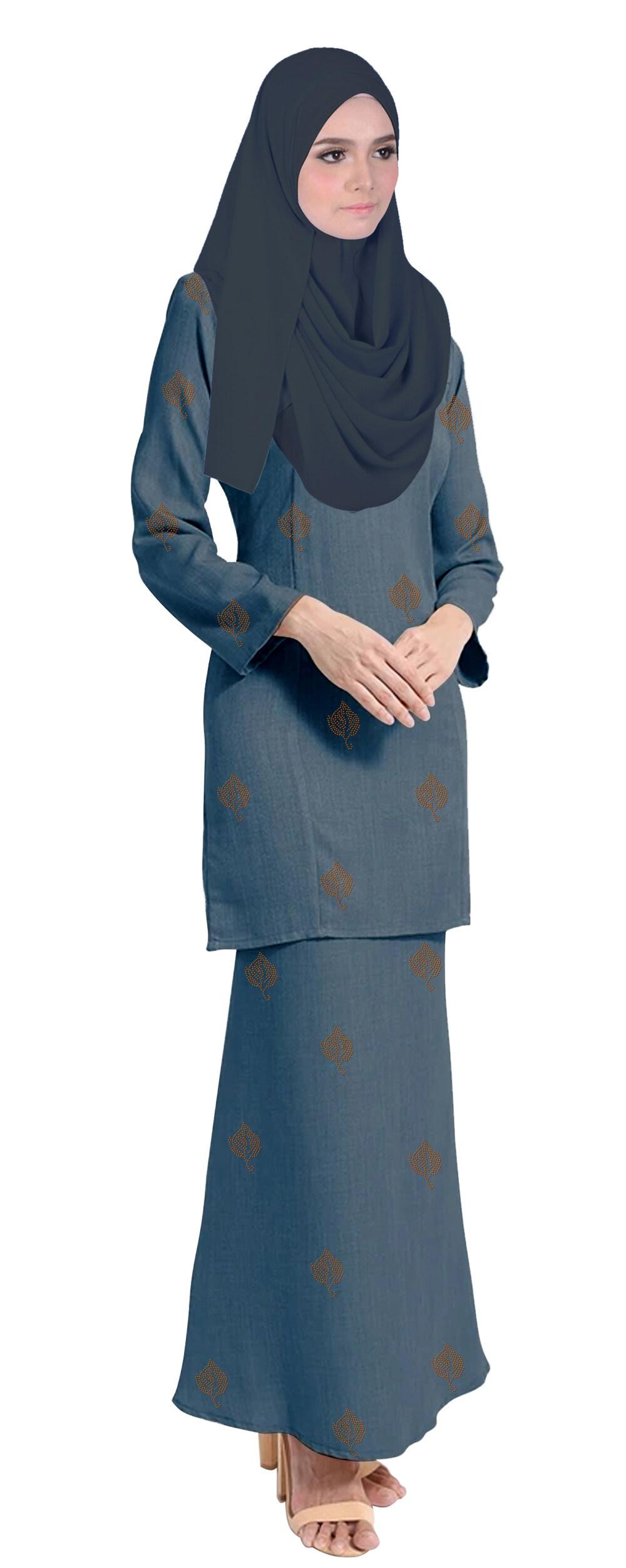 Baju Kurung Tahara For Muslimah Fashoin -Tahara-Grey