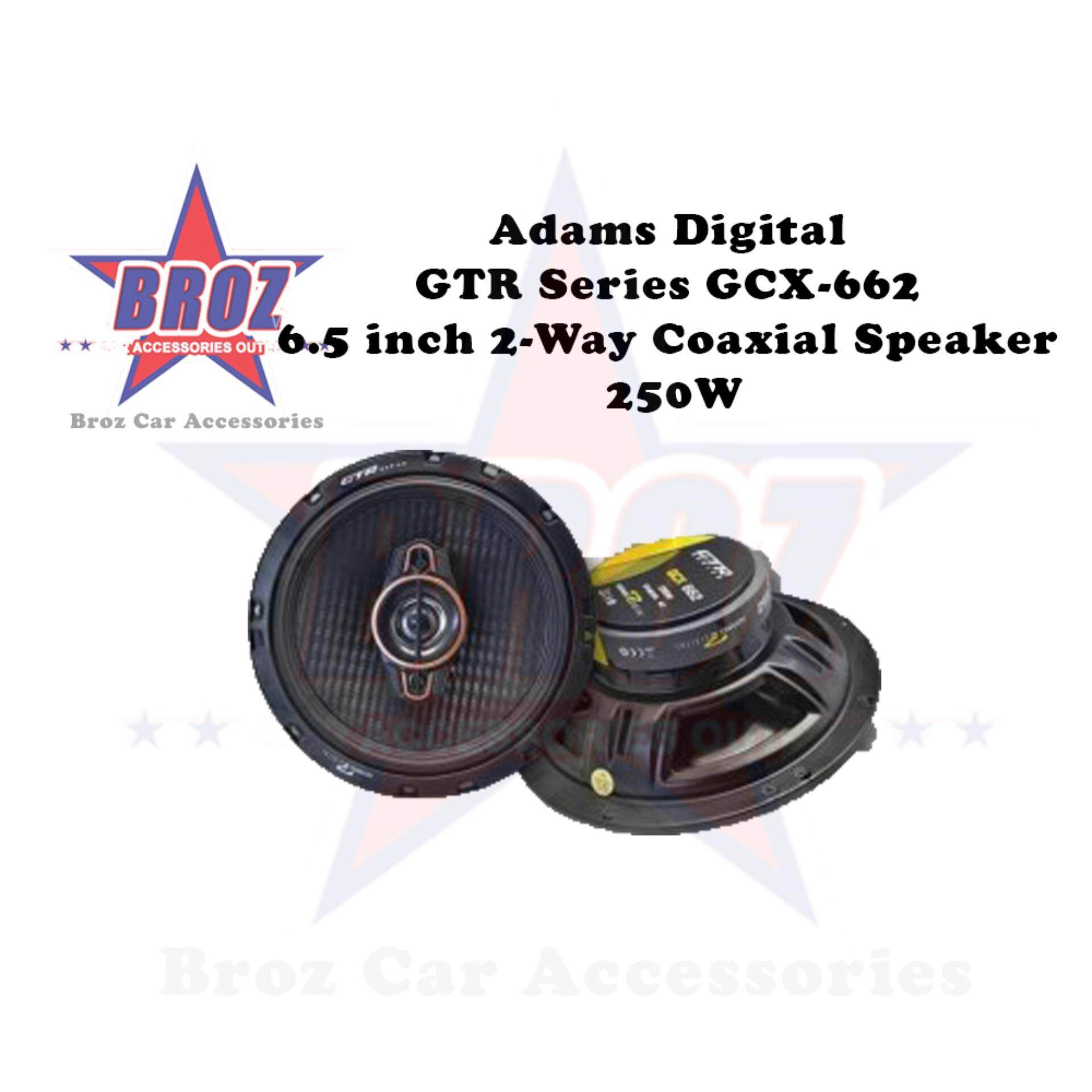 Adams Digital GTR Series GCX-662 6.5 inch 2-Way Coaxial Speaker 250W