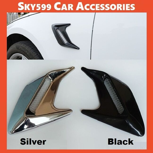 Car Decorative Air Scoop Flow Intake Hood Vent Bonnet Universal DIY Style 2pcs