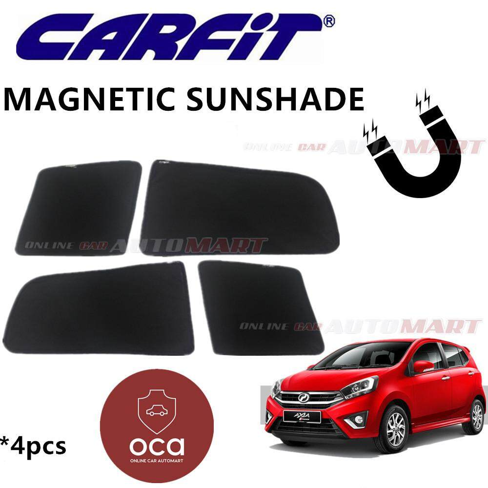 CARFIT OEM Magnetic Custom Fit Sunshade For Perodua Axia (4pcs Sets)