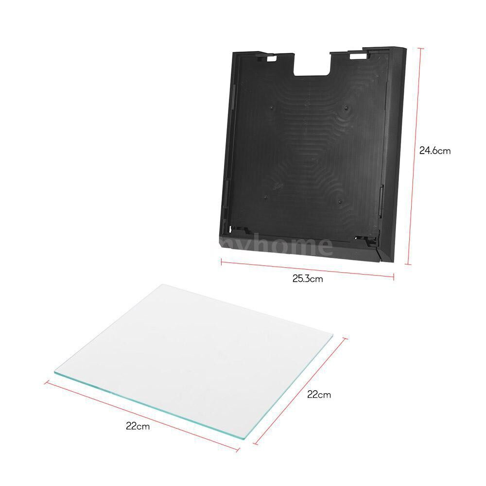 Printers & Projectors - 3D Printer Glass Plate 2202203mm Build Surface with Removable Printing Platform SET for Anet A8 - MULTICOLOR