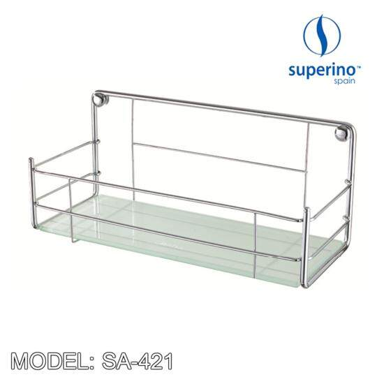 SUPERINO SA 421 RECTANGULAR  GLASS BASKET 15