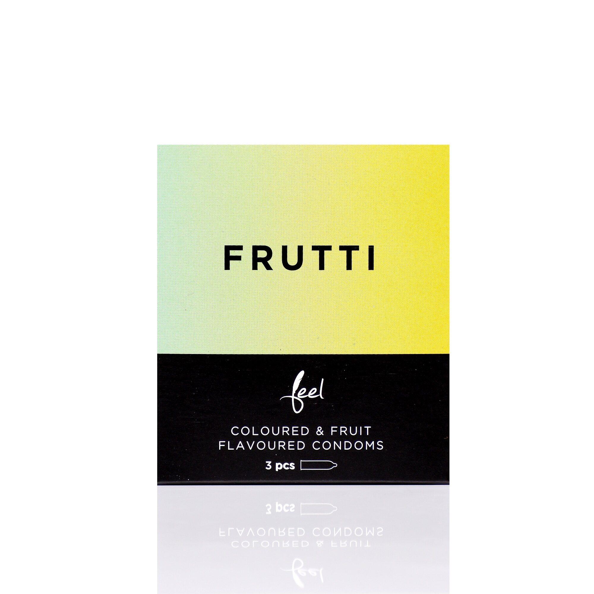 Nulatex Feel Frutti Coloured & Fruit Flavoured Condoms 3pcs