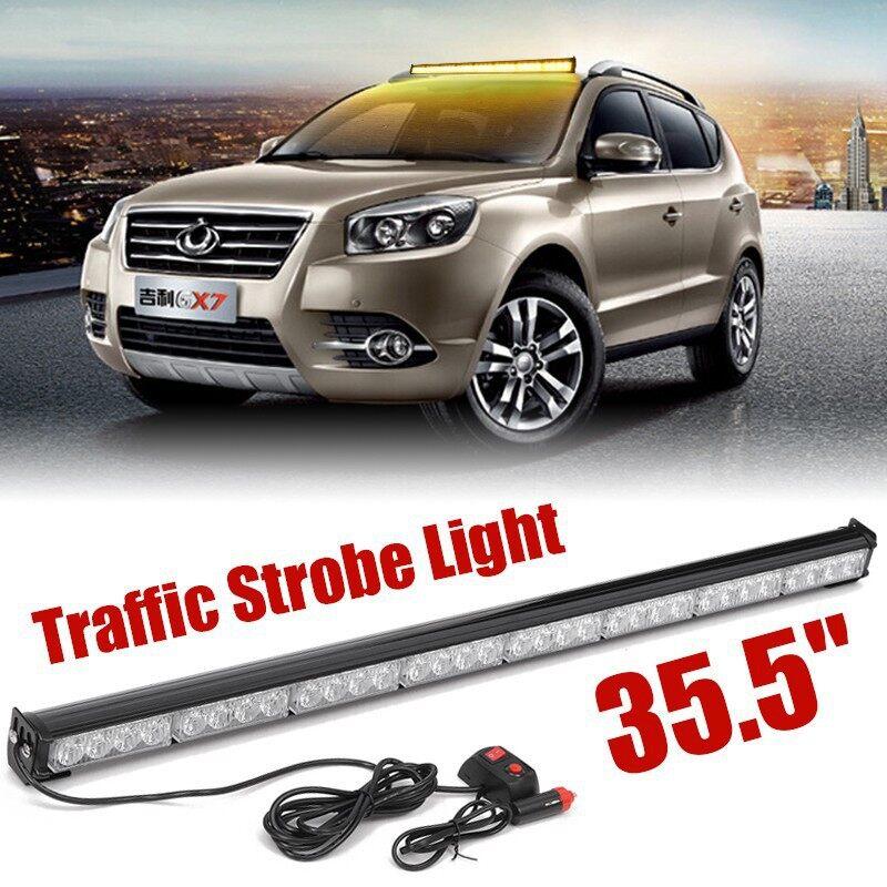 Car Lights - 32 LED Yellow Amber 35.5\'\' Emergency Traffic Advisor Flash Strobe Light - Replacement Parts