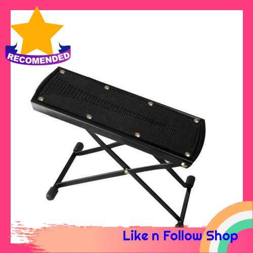 Foldable Guitar Footstool Anti-slip Metal Pedal Foot Stool with 6 Levels of Adjustable Height (Standard)