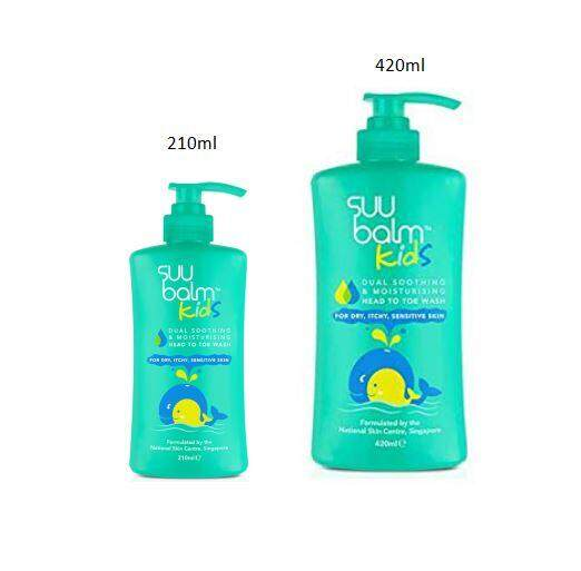 Suu Balm Kids Dual Soothing & Moisturising Head to Toe Wash 210ml / 420ml